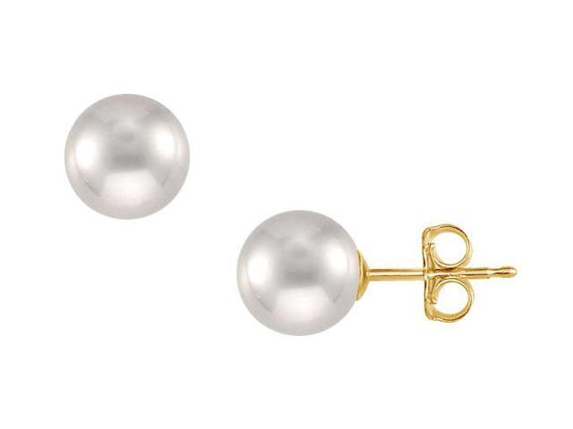 Tahitian Pearl Stud Earrings  18K Yellow Gold  11 MM