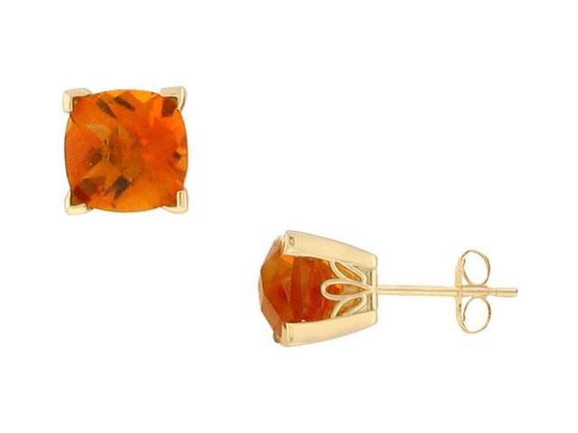 Citrine Earrings  14K Yellow Gold - 1.33 CT TGW