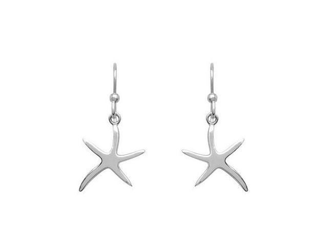 Polished Starfish Earrings in .925 Sterling Silver