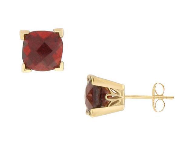 Garnet Earrings  14K Yellow Gold - 1.66 CT TGW