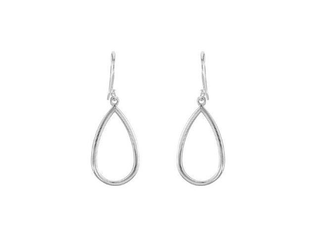Pear Shaped .925 Sterling Silver Earrings 21.00X12.75 MM