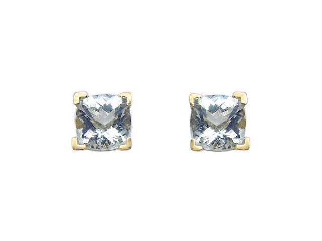 Aquamarine Earrings  14K Yellow Gold - 1.25 CT TGW