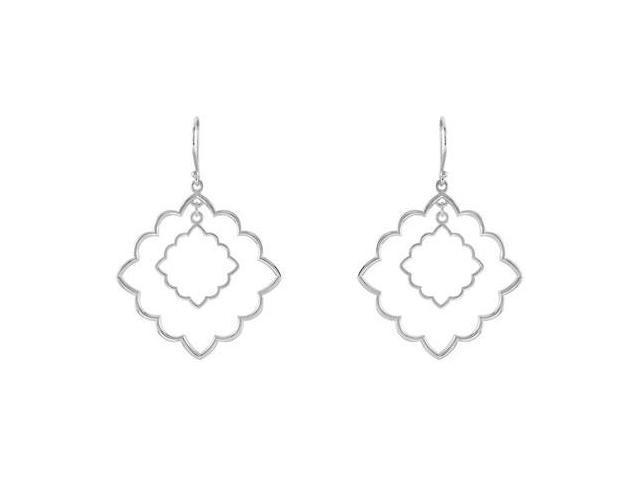 Decorative Sterling Silver Earrings 32.00X32.00 MM