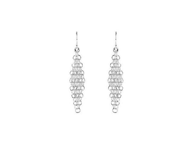 .925 Sterling Silver Dangle Chandelier Earrings 46.00X12.00 MM