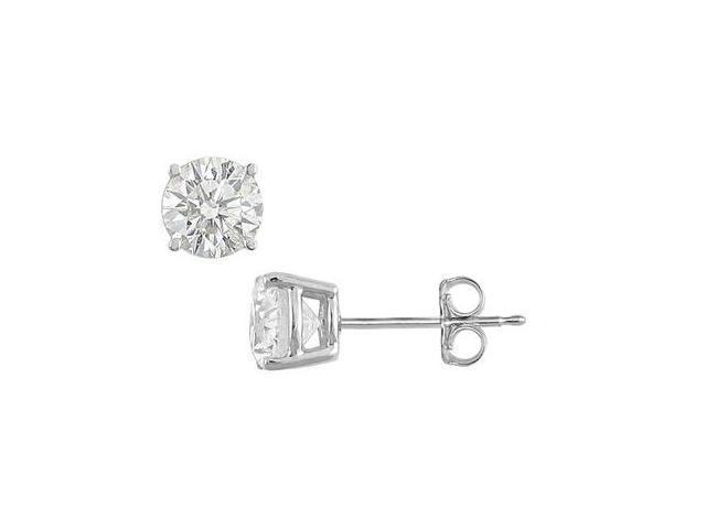 3 Carat Cubic Zirconia Stud Earrings of Brilliant Cut Triple AAA Quality in.925 Sterling Silver