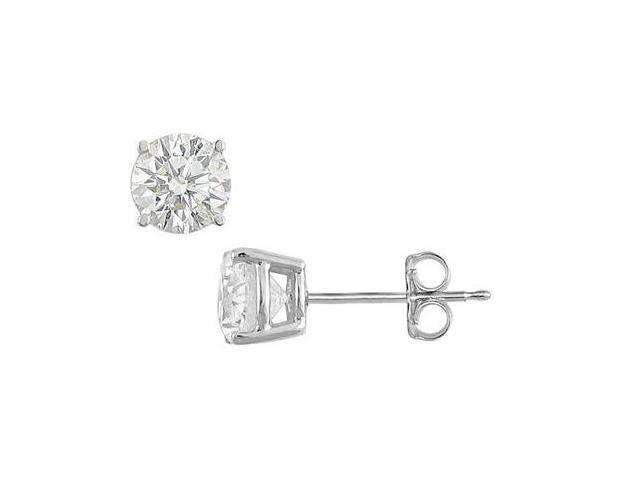 Diamond Type Brilliant Cut AAA Quality CZ Stud Earrings in Sterling Silver 5 Carat Total Weight
