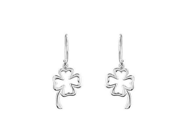 Petite Clover in a Rhodium Treated .925 Sterling Silver Earrings