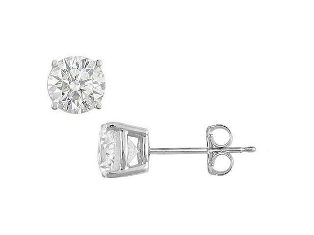 Cubic Zirconia Stud Earrings of Totaling 12 Carat Triple AAA Quality in .925 Sterling Silver