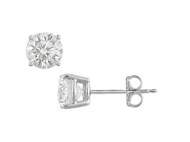 Cubic Zirconia Stud Earrings in 925 Sterling Silver 15 Carat Totaling CZ of Triple AAA Quality