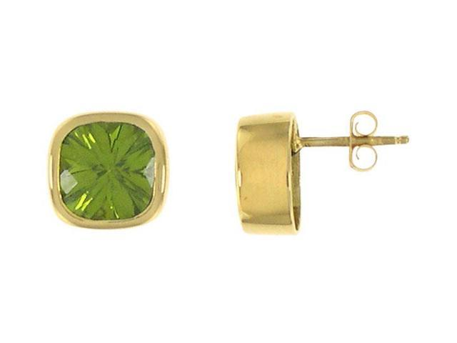 Peridot Earrings  14K yellow gold - 3.00 CT TGW