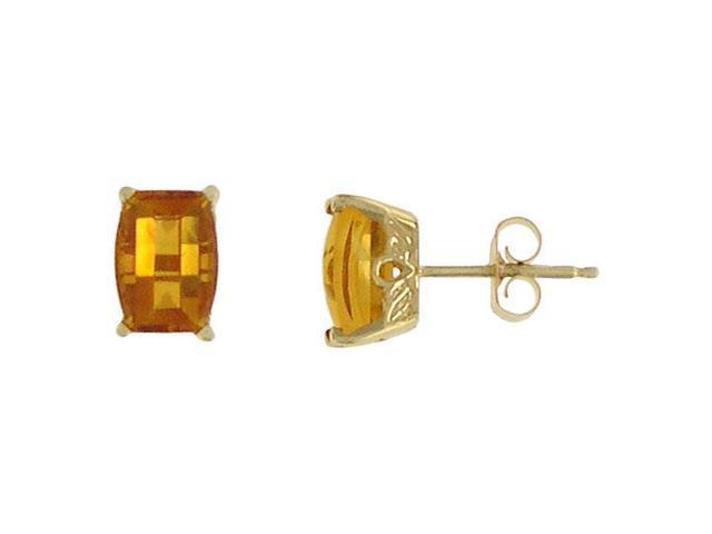 Citrine Earrings  14K Yellow Gold - 1.00 CT TGW