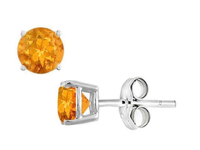 Citrine Stud Earrings in Sterling Silver 2.00 CT TGW
