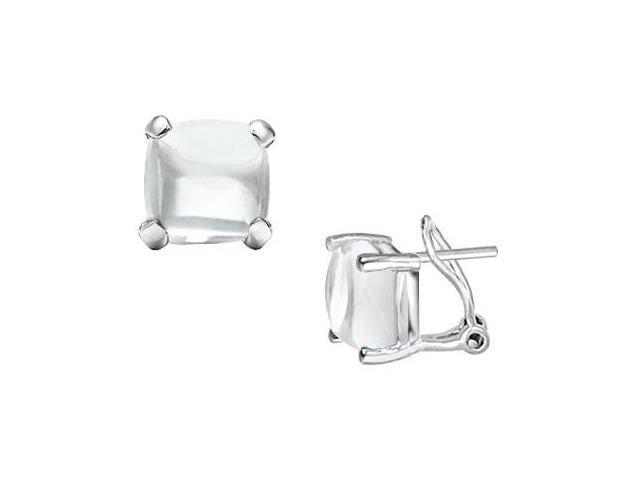 White Chalcedony Earrings  14K White Gold - 10.00 CT TGW