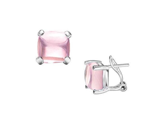 Pink Chalcedony Earrings  14K White Gold - 10.00 CT TGW