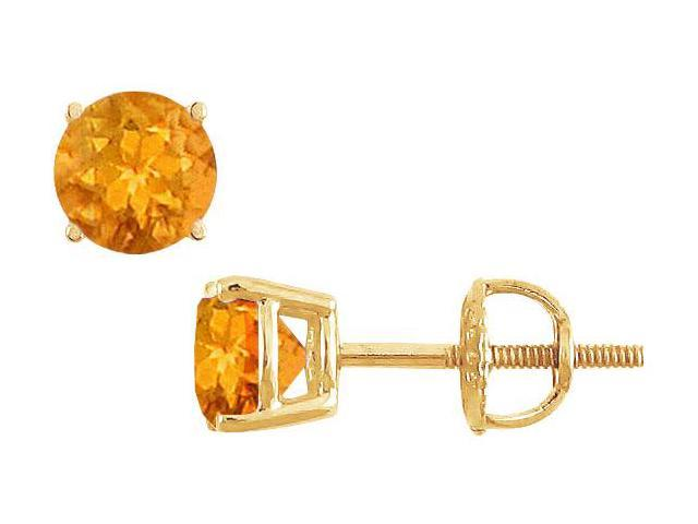 Citrine Stud Earrings  14K Yellow Gold - 2.00 CT TGW