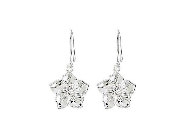 Forget me Not Pair Earrings  .925 Sterling Silver  - 0.02 CT Diamonds
