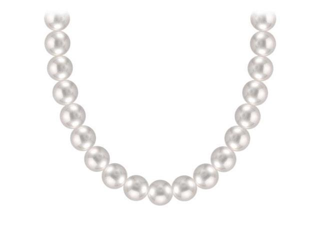 Akoya Cultured Pearl Necklace  14K White Gold  5 MM
