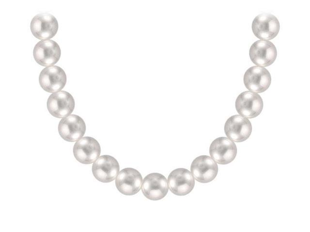 Akoya Cultured Pearl Necklace  14K White Gold  7 MM