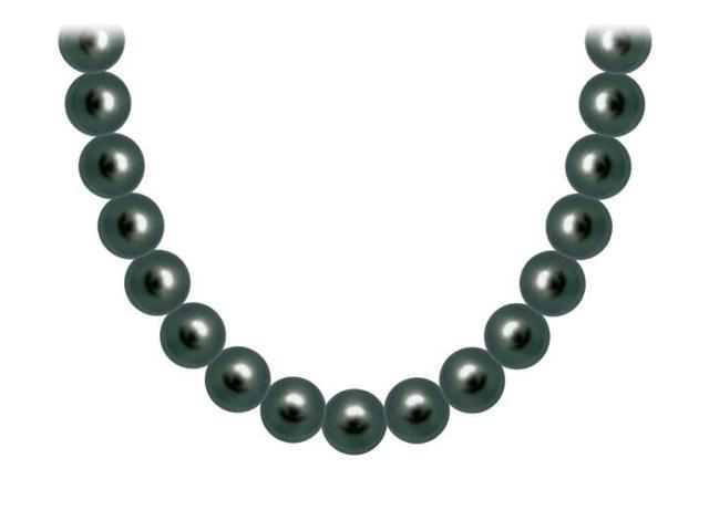 Akoya Cultured Pearl Necklace  14K White Gold  8 MM