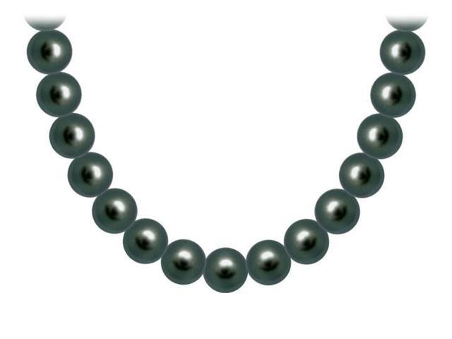 Akoya Cultured Pearl Necklace  14K White Gold  10 MM