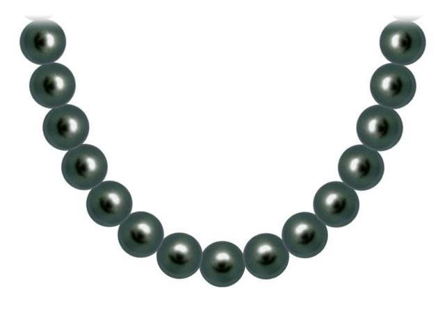 Akoya Cultured Pearl Necklace  14K White Gold  11 MM
