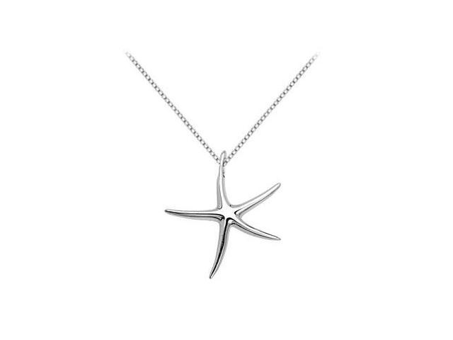 Starfish Necklace Pendant in .925 Sterling Silver 37.49X34.18 MM