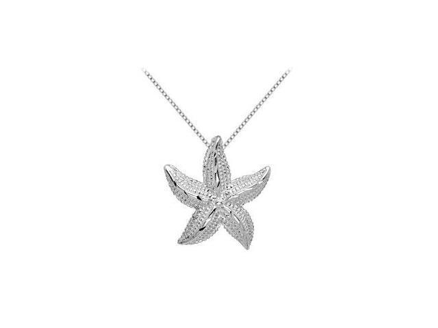 .925 Sterling Silver Starfish Pendant 24.08X22.09 MM