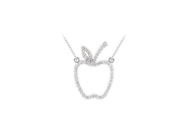 0.50 carat Diamonds Tiffany inspired Apple Necklace in 14K White Gold