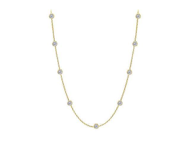 Diamonds By The Yard Necklace in 14kt yellow Gold 0.25 CT Total Diamonds