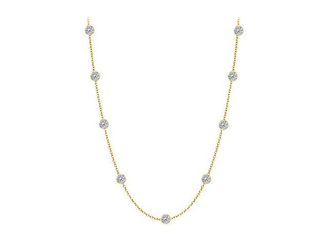 Diamonds By The Yard Necklace in 14kt Yellow Gold 0.50 Total Diamonds