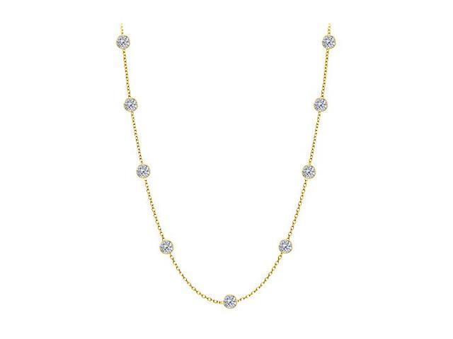 Diamonds By The Yard Necklace in 14kt Yellow Gold 1 CT Total Diamonds