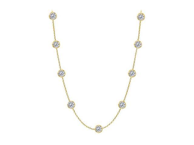 Diamonds By The Yard Necklace in 14kt Yellow Gold 4 CT Total Diamonds