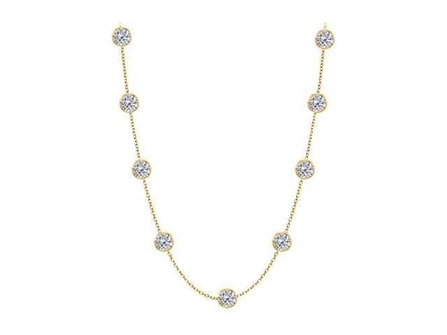 Diamonds by the Yard Necklace in 14K Yellow Gold 5.00 CT Total Diamonds