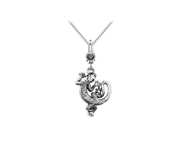 Lizard Charm Pendant in .925 Sterling Silver 20.00X16.00 MM
