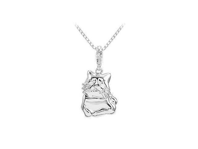 Sterling Silver Charming Animal Cat Charm Pendant