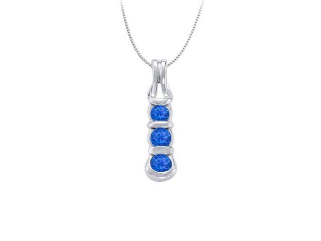 Knot pendant in Sterling Silver with Created Sapphire September Birthstone 0.50 CT TGW
