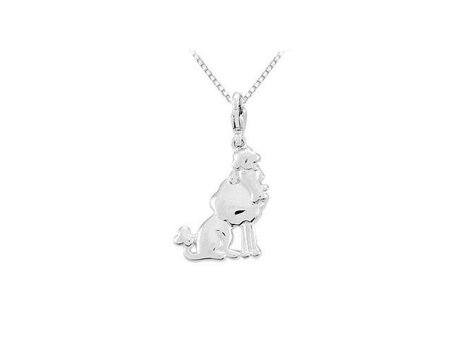 Sterling Silver Charming Animal Poodle Charm Pendant