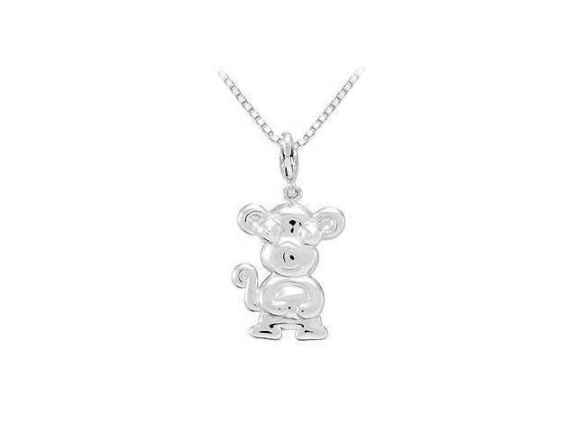 Sterling Silver Charming Animal Monkey Charm Pendant