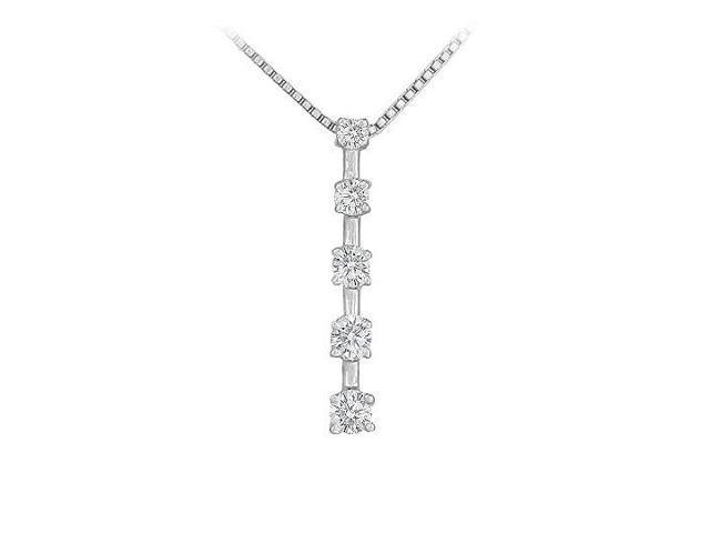 Diamond Journey Pendant  14K White Gold - 0.50 CT Diamonds