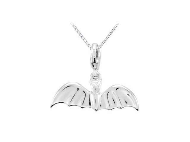 Sterling Silver Charming Animal Bat Charm Pendant
