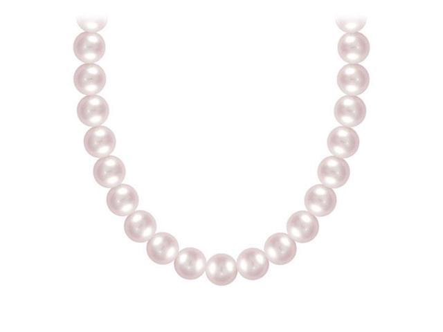 Akoya Cultured Pearl Necklace  14K White Gold  4 MM