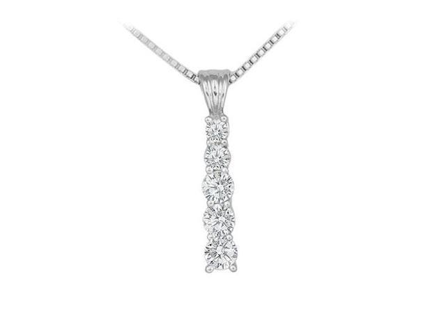Diamond Journey Pendant  14K White Gold - 0.50 CT Diamonds