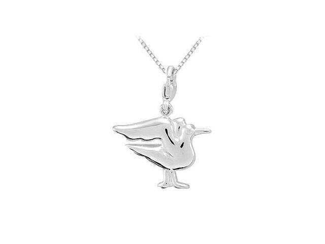 Sterling Silver Charming Animal Seagull Charm Pendant