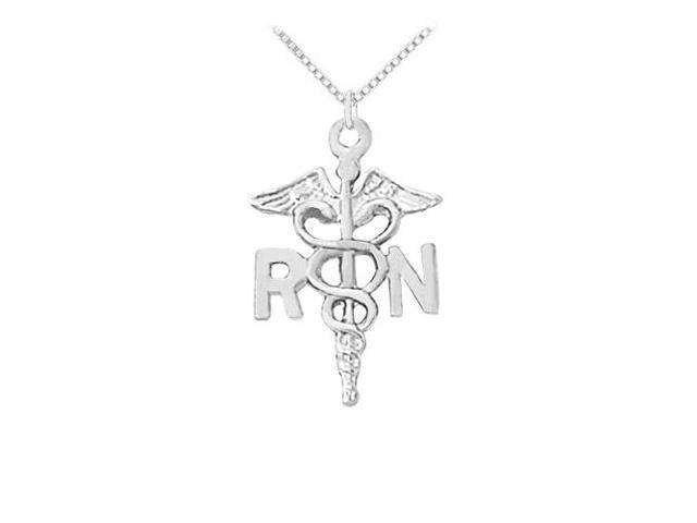 Registered Nurse Award Necklace in 925 Sterling SilverOctober Appreciation Month