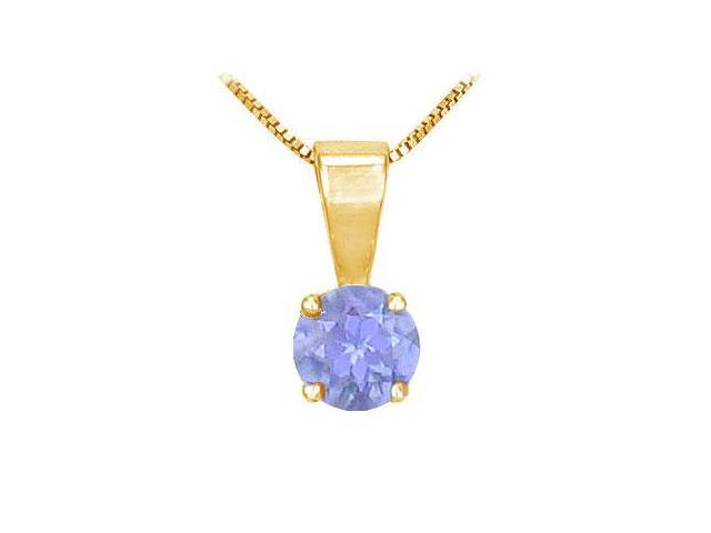 Tanzanite Solitaire Pendant  14K Yellow Gold - 1.00 CT TGW