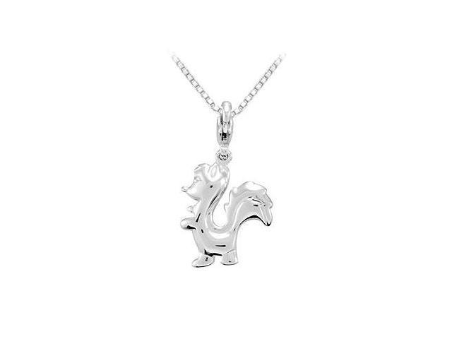 Sterling Silver Charming Animal Skunk Charm Pendant