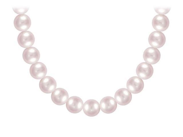 Akoya Cultured Pearl Necklace  14K White Gold  9 MM