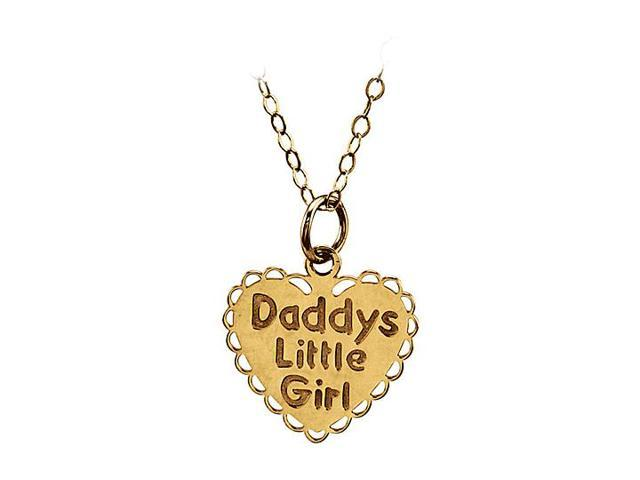 14K Yellow Gold Daddys Little Girl 15 Inch Necklace 13.00X13.75 MM