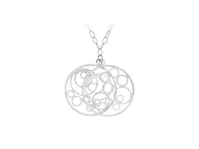Sterling Silver Reversible Fashion Pendant