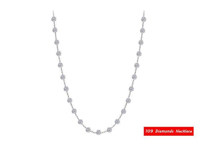Diamond By The Yard Necklace in 14kt White Gold 3.00. ct.tdw